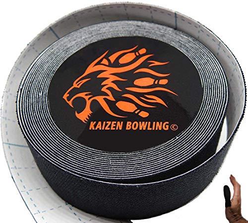 Bowling Tape – Fitting Tape für Daumen & Finger - Tenpin Bowling Zubehör für den Daumenschutz (Schwarz/Rot/Blau/Natur)
