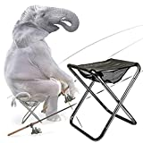Large Size Portable Folding Camping Stool   Ultralight but Heavy-Duty Outdoor Slacker Stool   Travel Chair Perfect for Gardening, Camping, Walking, Hunting, Hiking, Fishing, and Field drivi