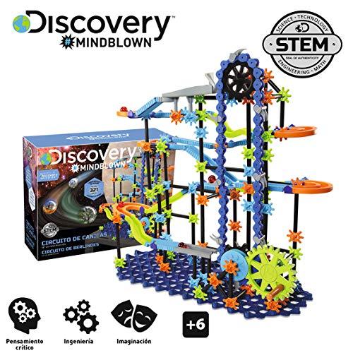 Discovery, Pista, Juego canicas Circuito, Piezas construccion, Juguetes para niños, Color Azul (6000343)
