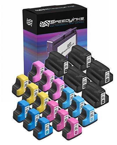 Speedy Inks Remanufactured Ink Cartridge Replacement for HP 02 (5 Black, 3 Cyan, 3 Magenta,3 Yellow, 3 Light Cyan, 3 Light Magenta, 20-Pack)