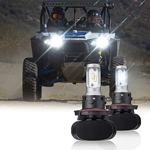 kemimoto Ranger LED Light Bulb, 20W IP65 Waterproof Upgrade UTV LED Headlight Light Bulb with Hi/Lo Compatible with 2011-2019 Polaris Ranger 800 1000 RZR XP 1000 General(2 PCS)
