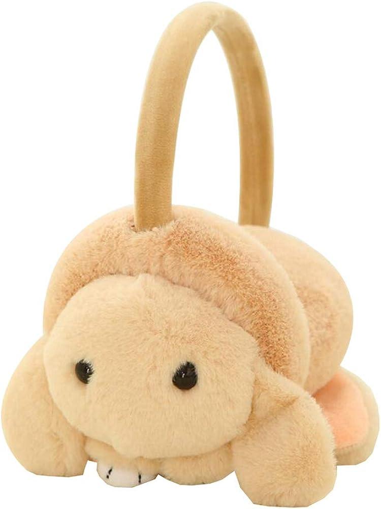 Cute Animal Soft Earmuffs Winter Warm Outdoor Ear Covers Headband Fur Ear warmer,#D1