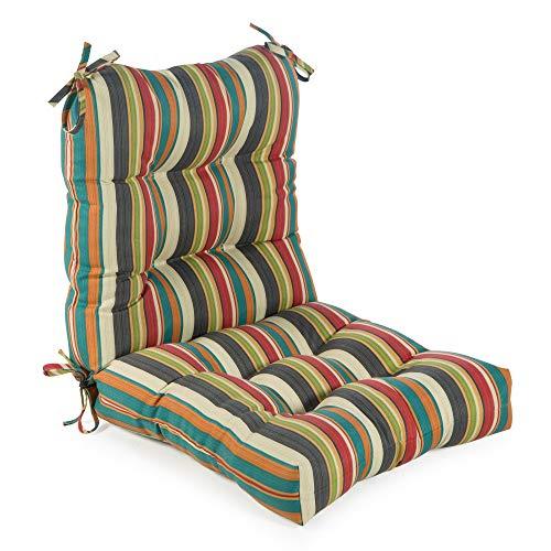 Greendale Home Fashions AZ5815-SUNSET Adobe Stripe 42'' x 21'' Outdoor Seat/Back Chair Cushion