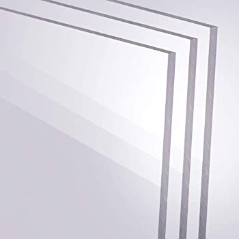 250 x 350 mm Wunschma/ß Zuschnitt bis Gr/ö/ße 25 x 35 cm UV-best/ändig B/&T Metall Acrylglas PMMA XT Platte transparent 2,0 mm stark beidseitig foliert