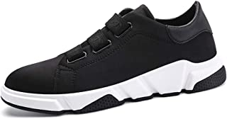 XUJW-Shoes, Fashion Sneakers for Men Ankle Shoes Pull On Style Elastic Bands Casual Breathable Outdoor Cushioning Soles Durable Comfortable Walking Shopping (Color : Black, Size : 7 UK)