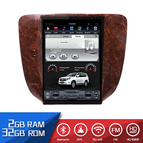 Miniclue Car Radio GPS 12.1'' Screen Android 7.1 Navigation Multimedia System WiFi A/C BT Compatible with Chevrolet Silverado Suburban Avalanche GMC Sierra Yukon 2007-2013