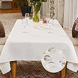 BALCONY & FALCON Mantel Impermeable Mantel Rectangular de Cocina para Comedor Fiesta Navidad Boda (Blanco Puro, 140x240cm)