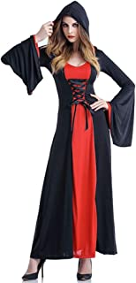 Women's Halloween Hooded Witch Vampire Robe Costume