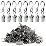 Teenitor 60pcs Party Light Hanger, Gutter Hangers for Lights, Curtain Clips Hanging Clamp Hooks Hanger Clips for Curtain Photos String Party Lights Awning Curtain Home Decoration Art Craft