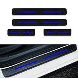 para Rifter 5008 Traveller Decoración Pegatina para Estribos,Protección de Pedal de umbral,Faldones Laterales Fibra de Carbono,Evitar el Desgaste 4Pieza Azul