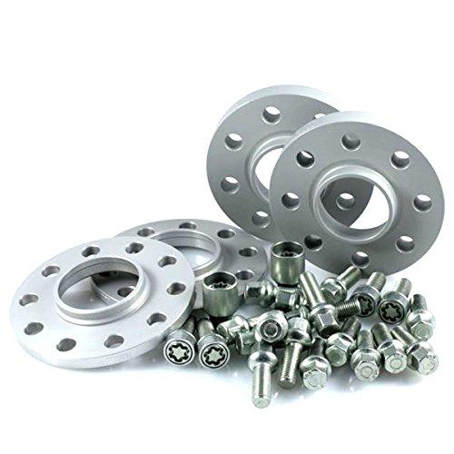 H&R TuningHeads 0438543.DK.55571-10A-15.GOLF-VI-TYP-1K ABE Spurverbreiterung, VA 20 mm/HA 30 mm + Radschrauben + Felgenschlösser