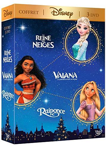 Coffret disney 3 films : vaiana, la légende du bout du monde ; la reine des neiges ; raiponce [FR Import]