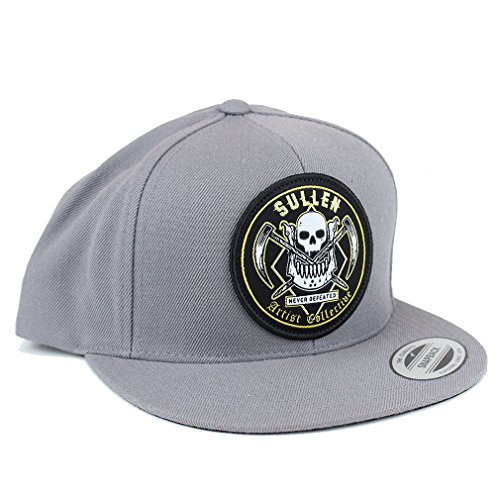 Sullen Clothing Casquette snapback pour homme – Never Defeated Gris