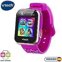 Vtech 80-193837 Kidizoom Smart Watch DX2 - Reloj inteligente para niños con doble cámara, color morado con flores