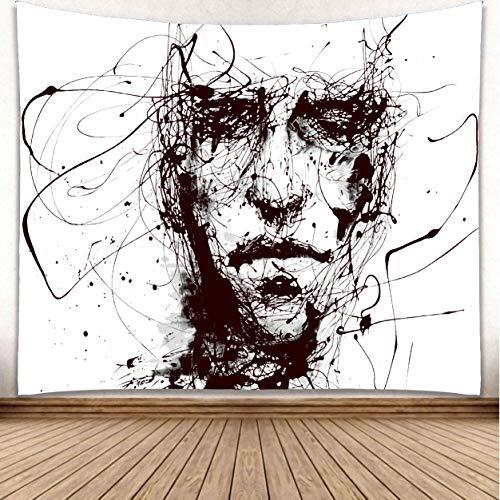 omnihabits Wandteppich, Wandtuch, Tapisserie, Tagesdecke, Wandbehang mit hoch detailliertem Druck (Face, 150 x 200 cm)