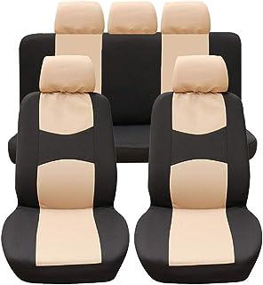 MISSMAO/_FASHION2019 Copertura per Seggiolino Auto Traspirante Decorazione Resistente allUsura Accessori Interni per Autoveicoli SUV Cuscini per Sedili Nero:1pz Sedile Anteriore Taglia Unica