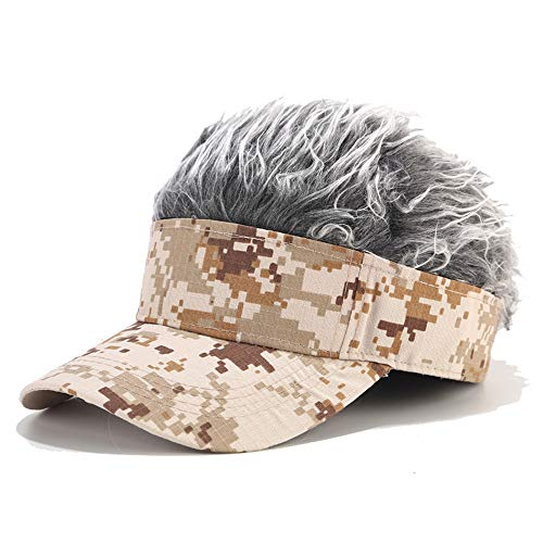 Pruik Camouflage Baseball Hoeden Petten Mannen Vrouwen, Popular Cool Camouflage Color Hip Hop Street Fashion Caps Casual Golf Caps Zonhoed Visor,A
