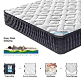 HomyLink Mattress Pocket Spring Memory Foam Mattresses Single Double 9-Zone Orthopaedic 23.5cm Height 3FT 4FT6