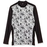 [ケイパ] Tシャツ 吸汗速乾 UVカット 接触冷感 軽量 エステルベア天竺 長袖 ハイネック メンズ ダークグレー 日本 M (日本サイズM相当)