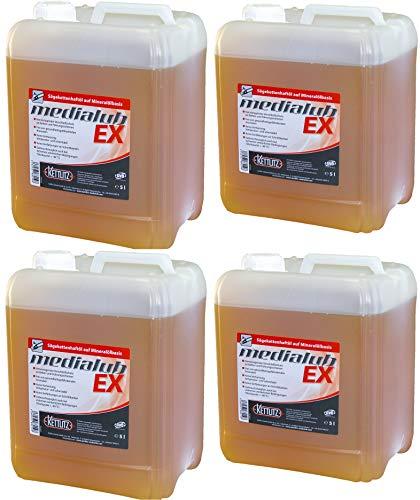 4 x 5 Liter KETTLITZ-Medialub EX Hochleistungs Sägekettenöl, Sägeketten-Haftöl