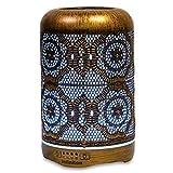 Aroma Diffuser  infinitoo 260ml Luftbefeuchter Ultraschall Metall Aromatherapie Diffusor für ätherische Öle  Aktualisierte Version Raumbefeuchter, 7 Farbe für Zuhause Büro Oder Yoga -