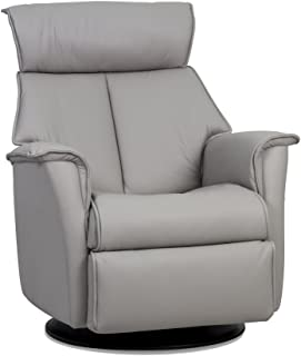 IMG-BOSS Motorized Swing Glider Relaxer Recliner Chair in Medium Standard Size in Trend Cinder Leather with USB