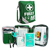 First Aid Kit -Compact First Aid Bag(175 Piece) - Reflective Bag Design- Includes 2 x Eyewash,Instant Cold...