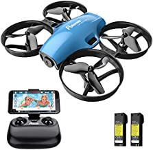 Drone with Camera for Kids, Potensic A30W RC Mini Quadcopter with 720P HD Camera, One Button Take Off/Landing, Route Setting, Gravity Induction and Emergency Stop-Dual Battery…