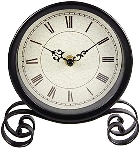 Dengbang Reloj de sobremesa Reloj de Mesa de Metal Negro...