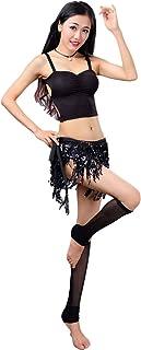 Women's Summer Beach Wrap Sequins Tassel Mini Skirts Belly Dance Hip Scarf Belt