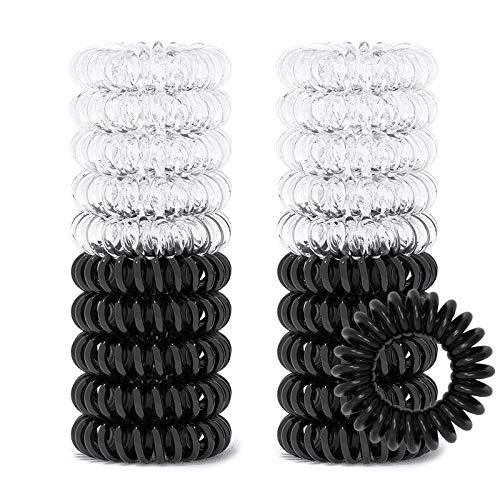20 Pcs Spiral Hair Ties No Crease, Coil Hair Ties, Phone Cord Hair Ties, Hair Coils, Hair Ties for Women