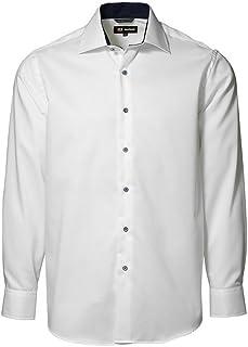 ID Camisa Formal clásica de Manga Larga de fácil Planchado con Ligero Entallado de Hombre