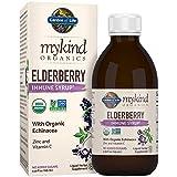 Garden of Life Mykind Organics Plant Based Elderberry Immune Syrup 6.59 fl oz (195 Ml) for Kids & Adults: Sambucus, Echinacea, Zinc & Vitamin C, 0g Sugar, Organic Vegan Gluten Free Herbal Supplement