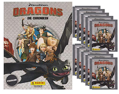 Panini - Dragons - Die Chroniken - Sammelsticker - 1 Album + 10 Tüten