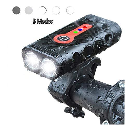 Mtb DEL byciclette lumière de vélo projecteur 4 Modes 450 LM front light rechargeable USB