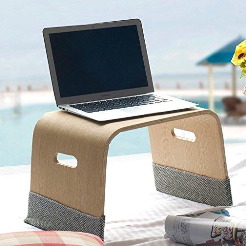 Lit table d'ordinateur portable Simple créatif grand paresseux bureau d'ordinateur en bois massif (Color : White oak)
