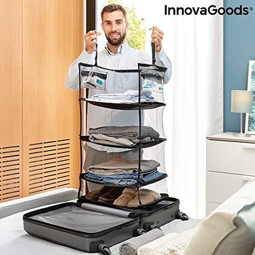 InnovaGoods Estantería Plegable Organizadora Portátil para Equipaje Sleekbag
