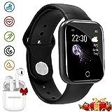 Smartwatch Offerta Del Giorno, Impermeabile DUODUOGO K8 Bluetooth Smartwatch per uomo Donna Bambini Compatibile Android iOS, Tracker Attivit Fitness Con Cardiofrequenzimetro (K8-Nero)