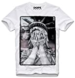 DOPEHOUSE T-Shirt Camiseta Statue of Liberty USA America Hipster Dope Swag, XL