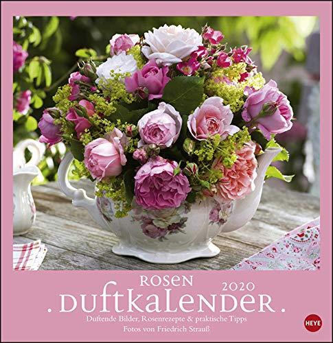 Rosenduftkalender - Kalender 2020 - Heye-Verlag - Duftkalender - Wandkalender mit Infos, Rezepten und Dekotipps - 32 cm x 33 cm