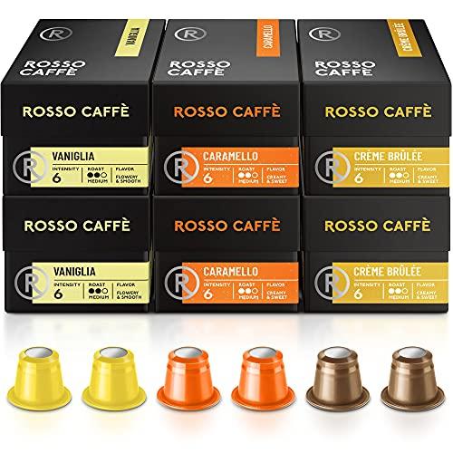 Rosso Coffee Capsules for Nespresso Original Machine - 60 Gourmet...
