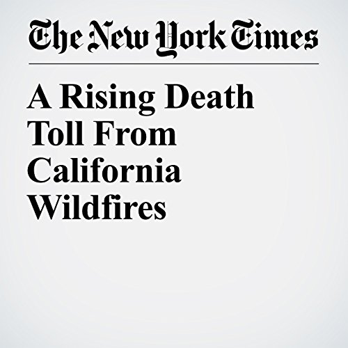 A Rising Death Toll From California Wildfires copertina
