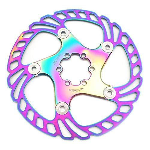 LvTu Flotante Freno de Disco Rotor de Bicicleta 180mm / 203mm con 6 Tornillos - Colorido (Size : 180mm)