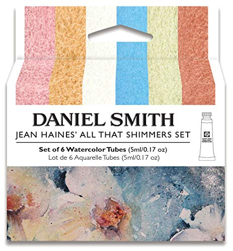DANIEL SMITH Watercolor, 5ml tubes, Jean Haines All That Shimmers Set 6 Watercolor Tubes (total 6 pieces) 285610375