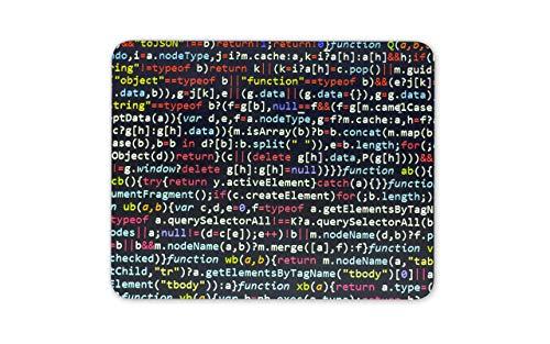 WOTAKA Gaming-Mauspad,Java Script Code Design,Rutschfest Verschleißfestes Und Haltbares Gummi,Mousepad Für Bürocomputer,9.5