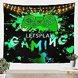 Loussiesd Gamer - Manta de pared para niños con mando de juego de juegos para niños, adolescentes, dormitorio, manta mediana de 51 x 59 cm