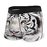 XCNGG Bragas Ropa Interior de Mujer White Tiger Men's Boxer Brief Breathable Elastic Underwear for Mens S-XXL