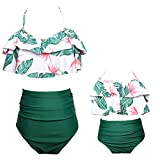 Baby Girls Bikini Swimsuit Set Family Matching Mother Girl Swimwear Baithing Suit (4-5T, Green)