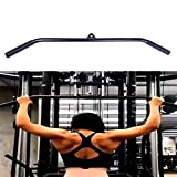Tricep Press Down Bar LAT Pull Down Bar Handle Attachment for Cable Machine, Non-Slip Handgrips &...