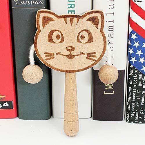 DINGX Baby Tremblant hochet Main en Bois Batterie Batterie Enfants Instrument de Musique Jouet Tigre - pour Cadeau Enfant, nom de Couleur: Tigre (Couleur: Chat) (Couleur: Chat) Chuangze (Color : Cat)